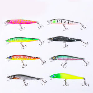 12cm Catching Artificial Squid Shape LED Light Soft Fishing Lure For Saltwater