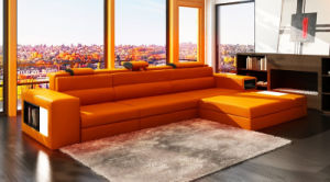 Chinese Living Room Furniture Leisure Leather Sofa for Home ...