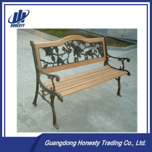 Pb-051 Outdoor Park Wood Bench with Cast Iron