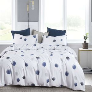 China Navy Blue And White Duvet Cover