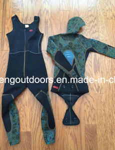 5mm Camouflage Spearfishing Smooth Skin Wetsuit with Adhesive02