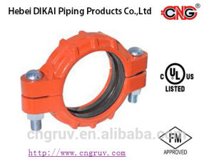 FM /UL Approved Ductile Iron Grooved Pipe Fitting Heavy-Duty Flexible Grooved Coupling pictures & photos