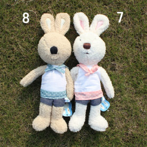 Free Shipping Stuffed Plush Bunny for Valentine′s Day and Kid′s Gifts, 32cm, 2PCS/Lot