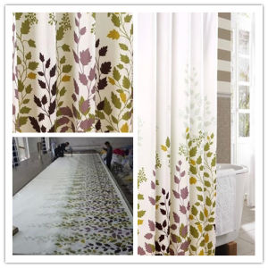 High Quality Bathroom Shower Curtain with Waterproof (DPF2460) pictures & photos