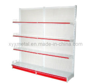 Perforated Back Supermarket Shelves Punch Back Panel Gondola Shelves pictures & photos