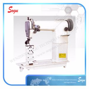 Double Needle Industrial Post Bed Lockstitch Sewing Machine pictures & photos