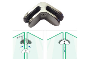 Highly Brushed Asis Railing Handrail 135 Degree Glass Clamp