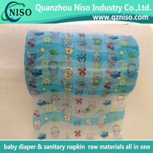 Adult Diaper Raw Materials Knitted Frontal Tape with Colorful Pattern pictures & photos