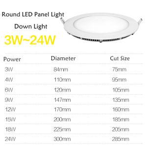 Recessed LED Round Panel Downlight 3W 6W 9W 12W 15W 18W 24W Ceiling Down Lights