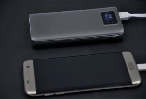 20000 mAh Ultrathin Polymer LCD Display Screen Dual USB Power Bank with Flashlight pictures & photos