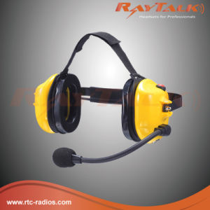 Behind-The-Head Style Noise Cancelling Headphones for Walkie Talkies pictures & photos