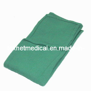 Surgical Cotton Fabric Towel Blue and Green pictures & photos