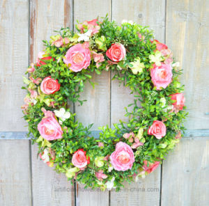 Charming Rose Wreath for Wall Decoration