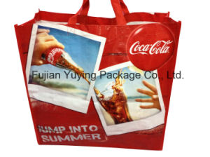 Red Non Woven Tote Bag with Customized Printing