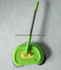 360 Rotating Hand-Propelled Floor Sweeper Manual Cleaner pictures & photos