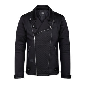 Man Leather Jacket Men Black Casual pictures & photos