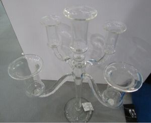 Five Poster Glass Candle Holder for Home Decoration