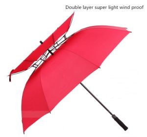 Semi Automatic Full Fiber Double Layer Umbrella