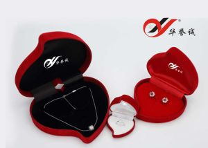 Heart Shape Red Multifuctional Jewelry Box pictures & photos