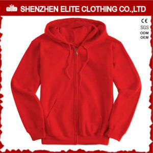 Fashion Shiny Red Wholesale Hoodies Pullover Woman (ELTHI-17) pictures & photos