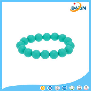 Teething Teether Loop Bracelet Bangle Silicone Soft Beads for Chew Baby pictures & photos