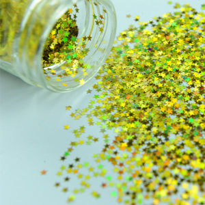 Star-Shaped Glitter Powder in Rainbow Color (C2550)