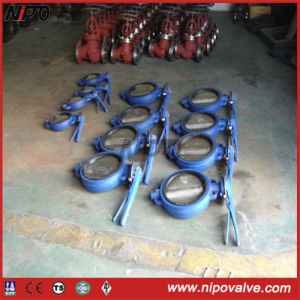 Wafer Type Rubber Lining Butterfly Valve pictures & photos