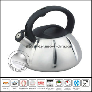Kitchenware 3 Step Capsule Bottom Stainless Steel Whistling Kettle pictures & photos