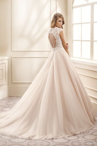 Cap Sleeves Bridal Ball Gowns Pink Color Accent Wedding Dresses 2017 Z7008 pictures & photos