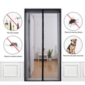 2018 Magnetic Screen Door Magic Mesh Cover