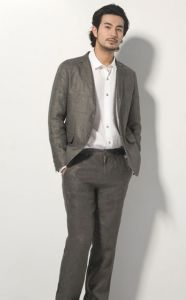 Fashion Office Grey Men Suits 100 Wool