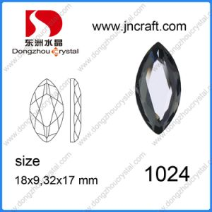 Crystal Garment Sew-on Stone Mirror Glass Stone (DZ-1024) pictures & photos