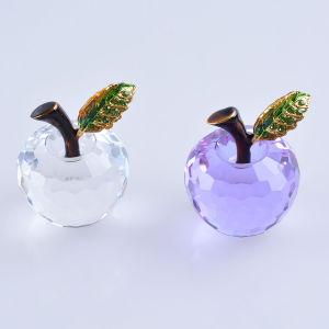 40mm Crystal Apple of Paperweight for Home Decoration Wedding Favor Gift pictures & photos