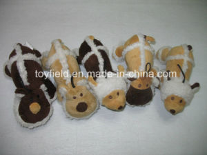 New Design Dog Plush Fleece Squeaky Pet Toy pictures & photos