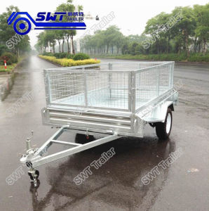 Utility Hot-Dipped Galvanized Single Axle Box Trailer (SWT-BT64-L) pictures & photos