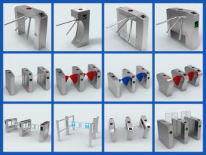 RS Best Sales Turnstile System Flap Gate Barrier pictures & photos