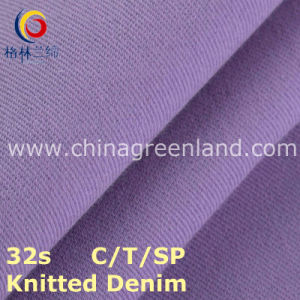 Knitted Denim Cotton Polyester Spandex Twill Fabric for Garment Dress (GLLML216) pictures & photos