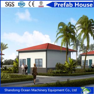 2017 Hot Sell Double Slope Roof Prefabricated Modular House of Light Steel Structure with Sandwich Panel pictures & photos