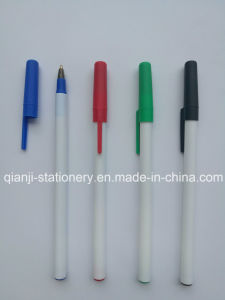 Cheap Three Colors Stationery Pen with Cap (P4001A) pictures & photos