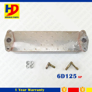 6D125 Engine Radiator Oil Cooler for Komatsu with 8p