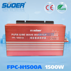 Suoer 1500W DC 12V to AC 230V off Grid Pure Sine Wave Solar Power Inverter (FPC-H1500A)