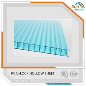 6mm High Thermal Insulation PC U-Lock Multiwall Hollow Sheet
