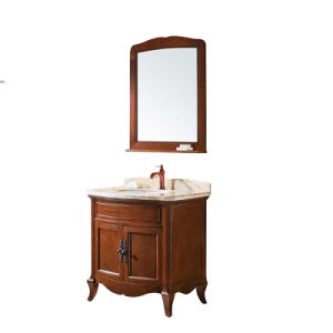 Solid Wood Small Size Bathroom Cabinet Vanities and Sinks (GSP14-045) pictures & photos