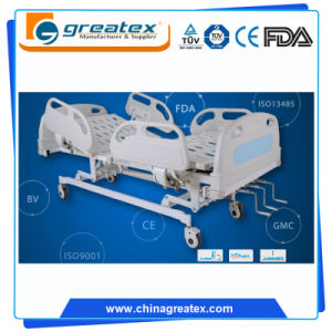 Critical Care 3 Cranks Stainless Board Hospital Bed for The Elderly
