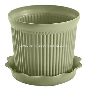 Plastic Flower Pot with Tray (KD9301-KD9303) pictures & photos