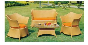 Outdoor Furniture Rattan Dining Set Table Chairs