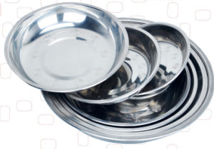 Round Shape Stainless Steel Tray/Food Plate