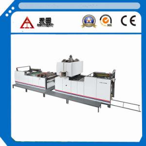 Lfm-Z108L Fully Automatic Vertical Type Sheet Paper and Pet PVC BOPP Film Laminating Machine with Chain Knife pictures & photos