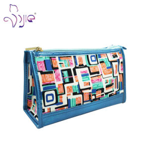 Fresh Coton Cosmetic Bag for Lady with PU Handle