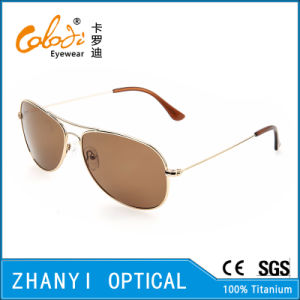 Latest Design Titanium Sunglass for Driving with Polaroid Lense (T3025-C3)